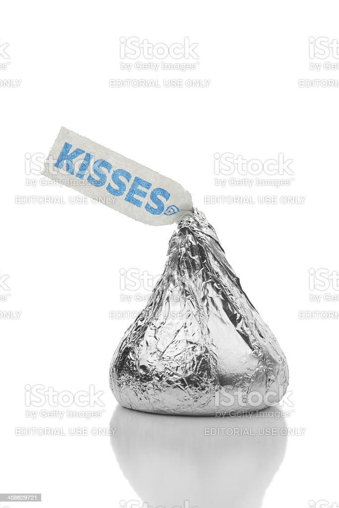 Hershey's Kiss Made of Milk Chocolate stock photo