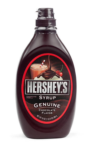 hershey's syrup isolated - chocolate syrup stock photos and pictures