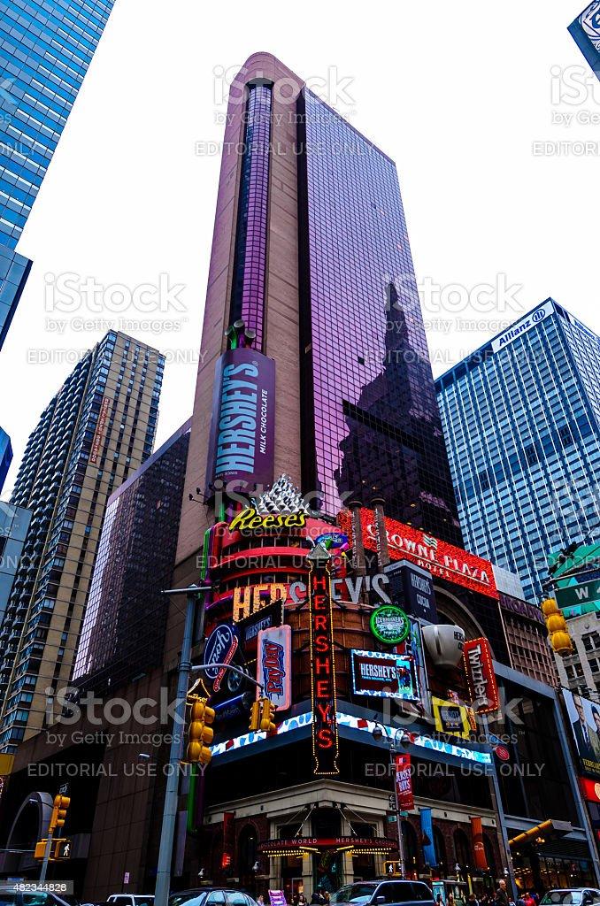Hersheys, Times Square stock photo