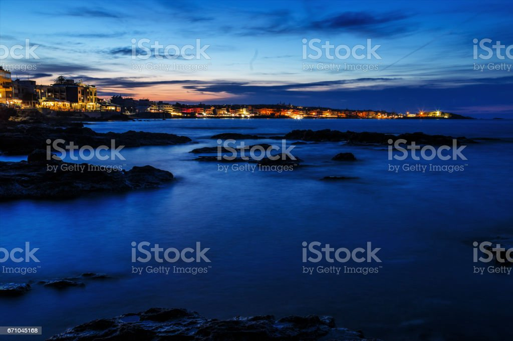 Hersonissos village Crete stock photo