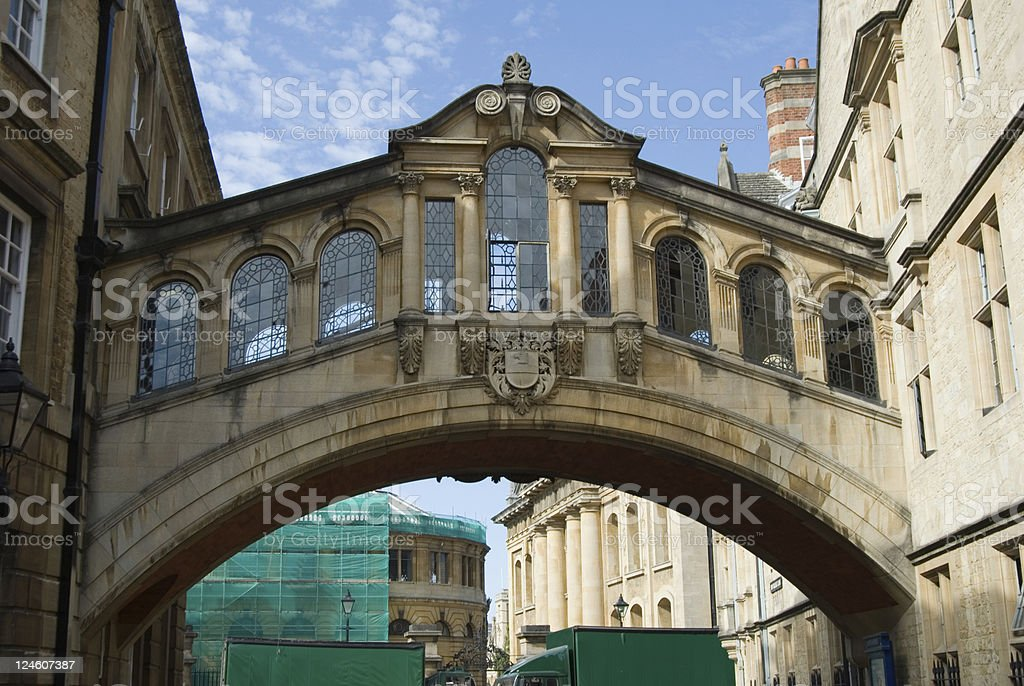 Hertford Bridge Oxford landmark stock photo