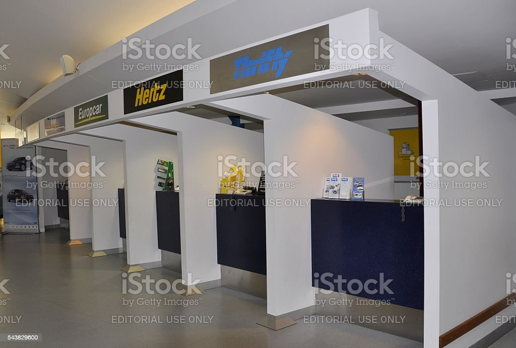 Hervey Bay airport car rental stock photo
