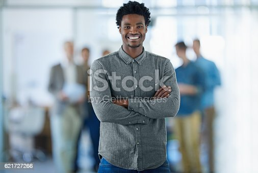 istock He's a company young gun! 621727266