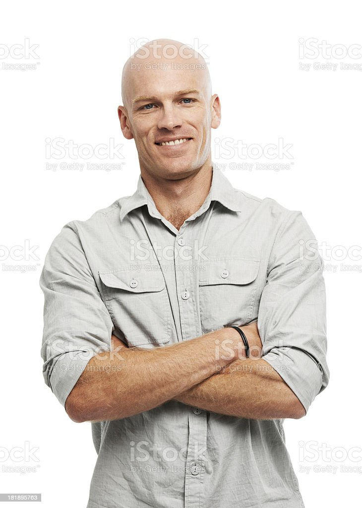 He's a confident guy stock photo