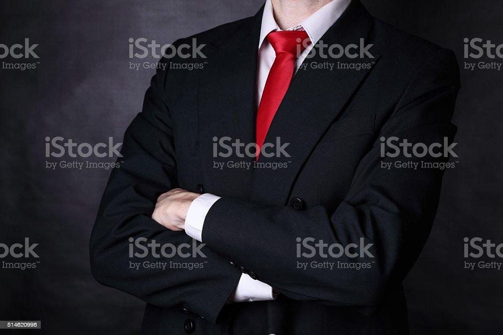He's a confident man stock photo