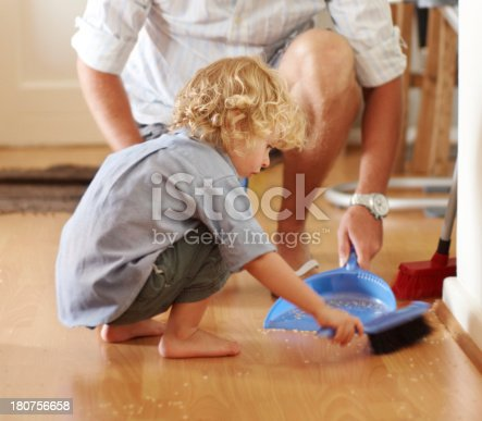istock He's a cute cleaner 180756658