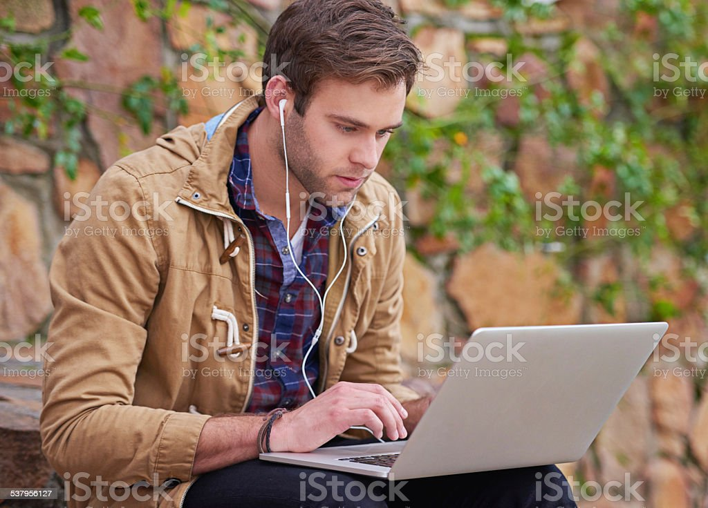 He's a dedicated student stock photo