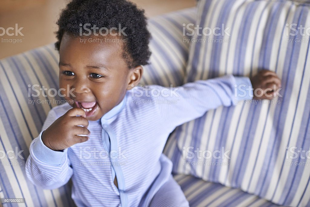 He's a funny lil' guy! stock photo