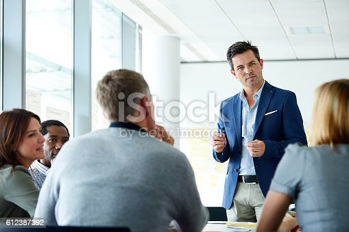 istock He's a man with a plan for the company 612387392