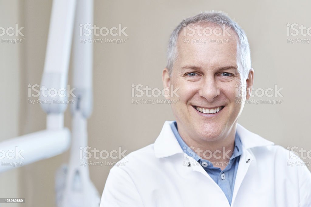 He's a model dentist royalty-free stock photo