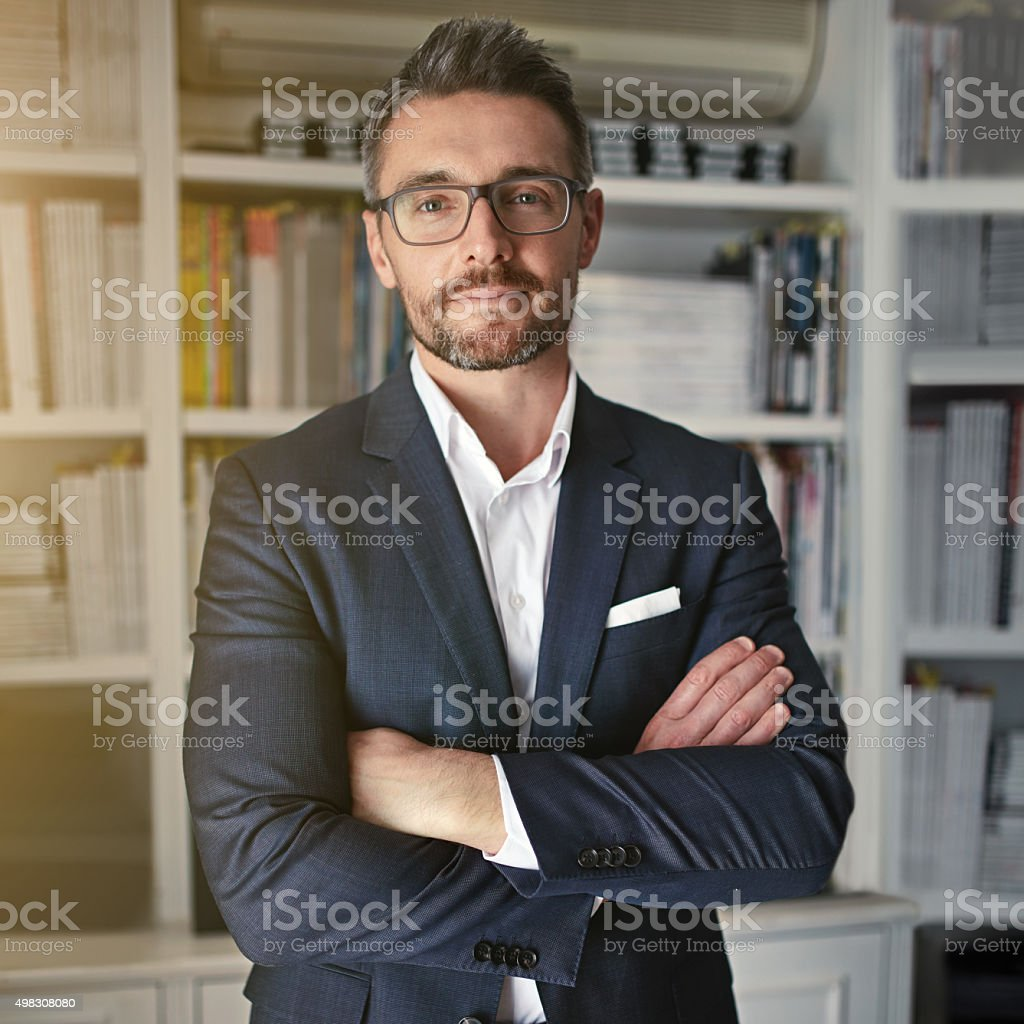 He's a modern man in contemporary business stock photo
