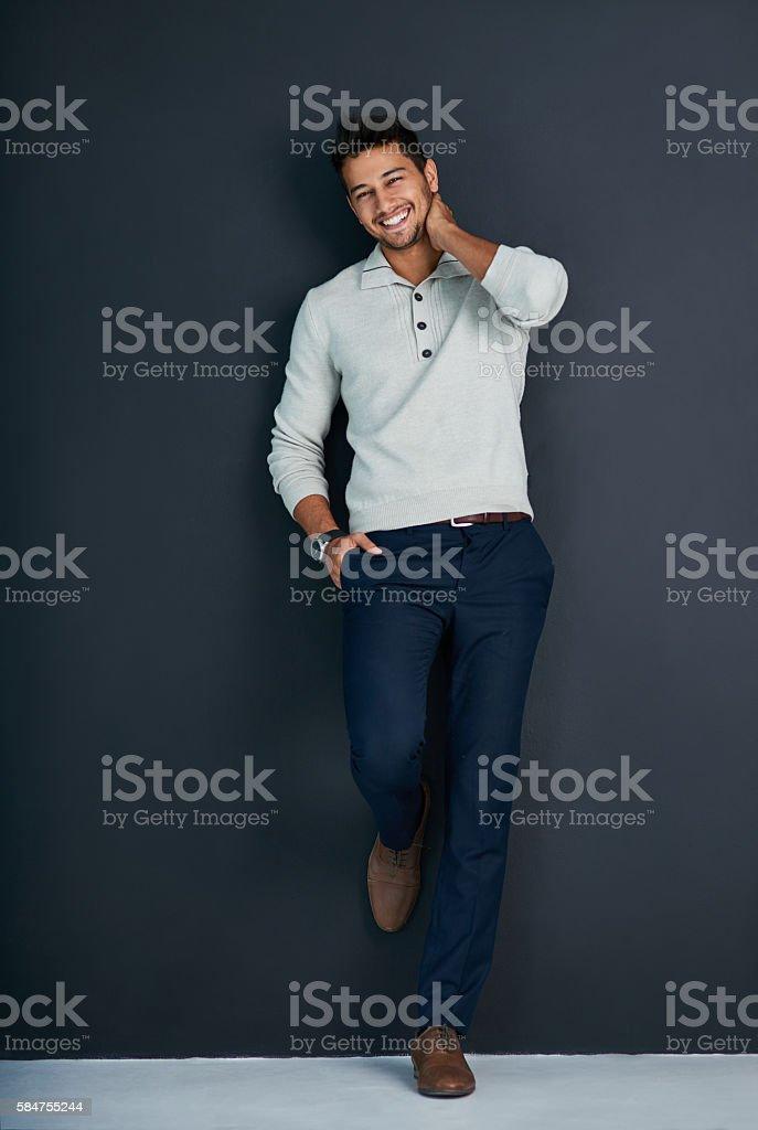 He's a real charmer - fotografia de stock