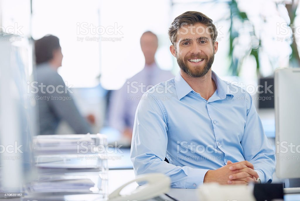 He's a real go-getter! stock photo