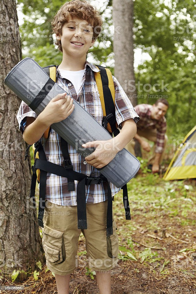 He's a regular little boy scout! royalty-free stock photo