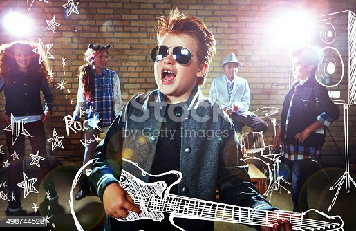 istock He's a rockstar in the making! 498744528