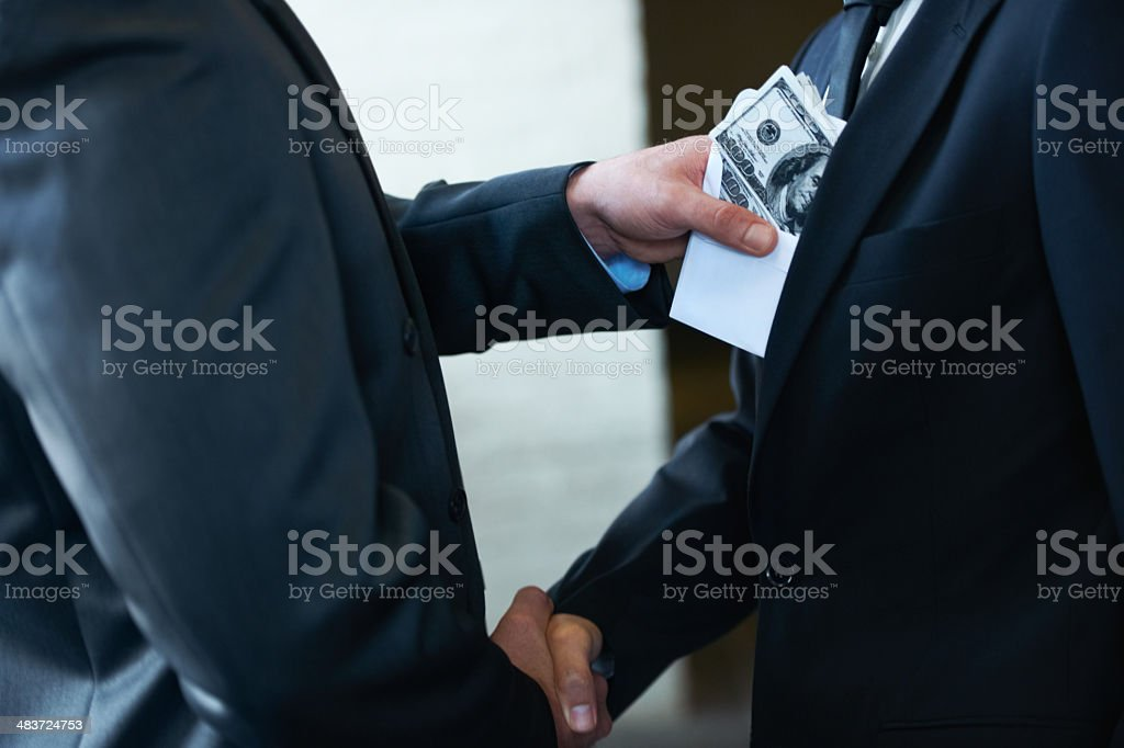 He's a rotten egg in the corporate world royalty-free stock photo