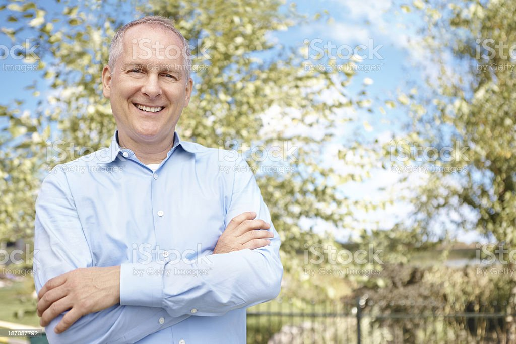 He's a smiling success royalty-free stock photo