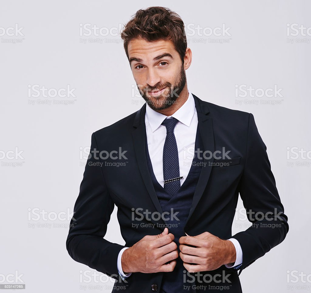 He's a sophisticated man stock photo