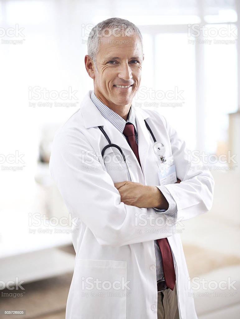 He's a specialist in smiles stock photo