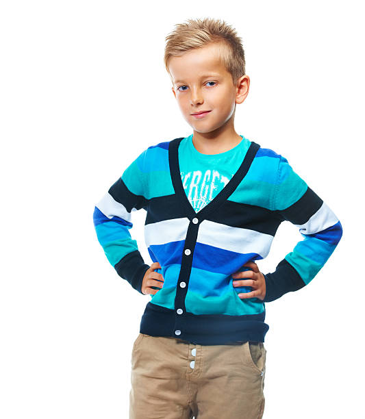 He's a stylish young boy stock photo