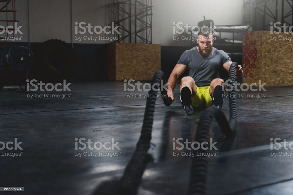 He's a warrior stock photo