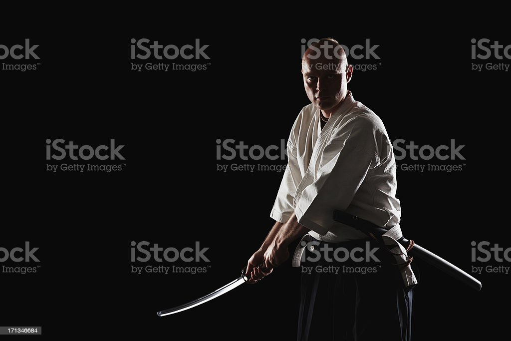 He's a warrior worth respecting stock photo