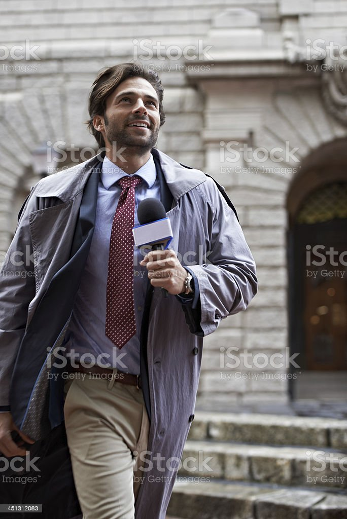 He's after the story royalty-free stock photo