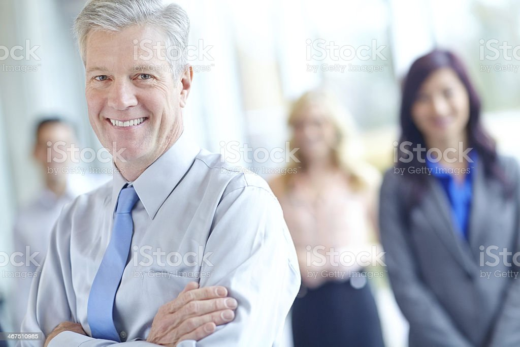 He's always been loyal to the firm stock photo