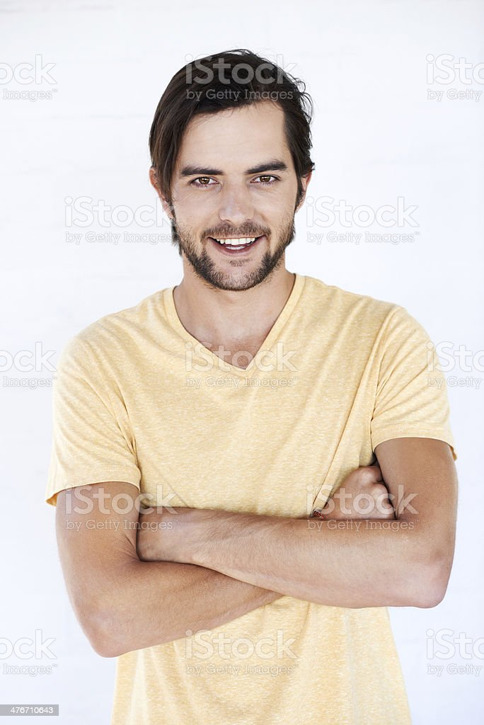 He's always filled with charm royalty-free stock photo