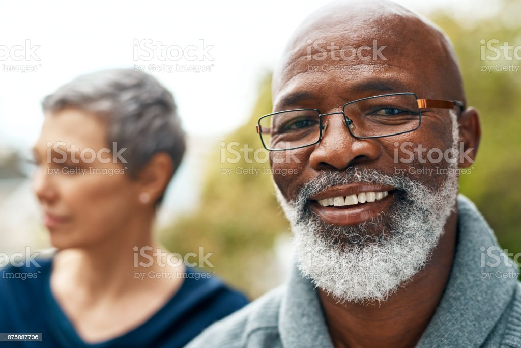 He's always happy stock photo