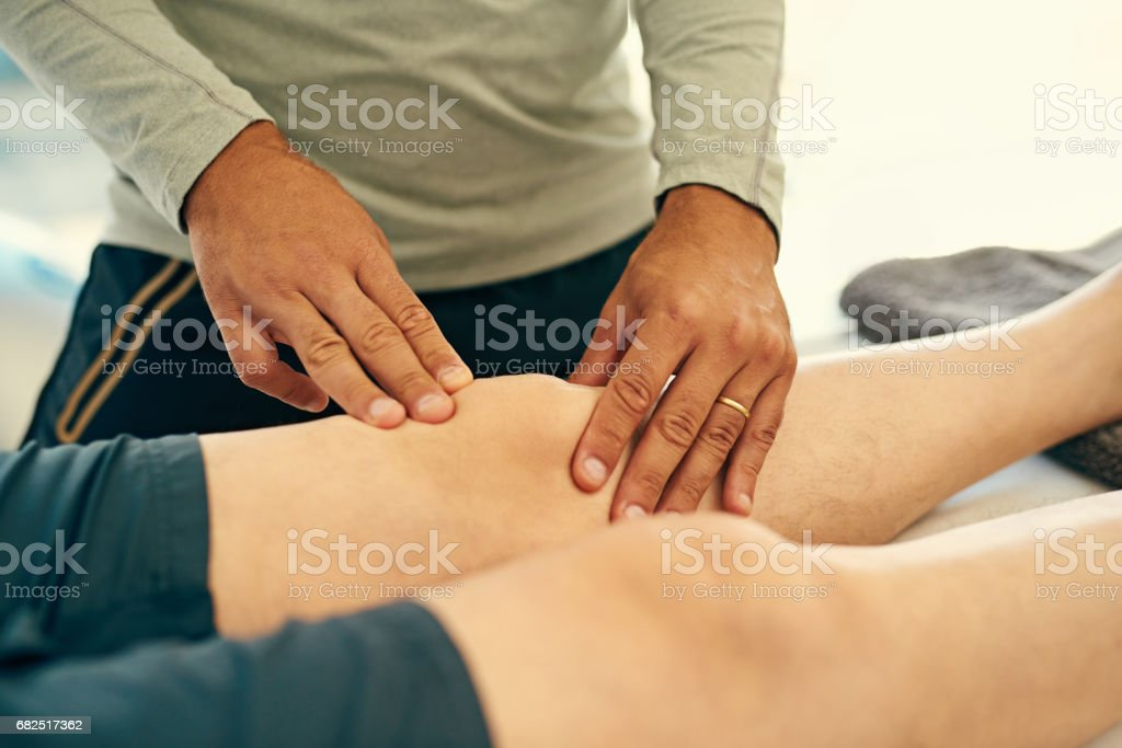 He's an expert in joint pain royalty-free stock photo