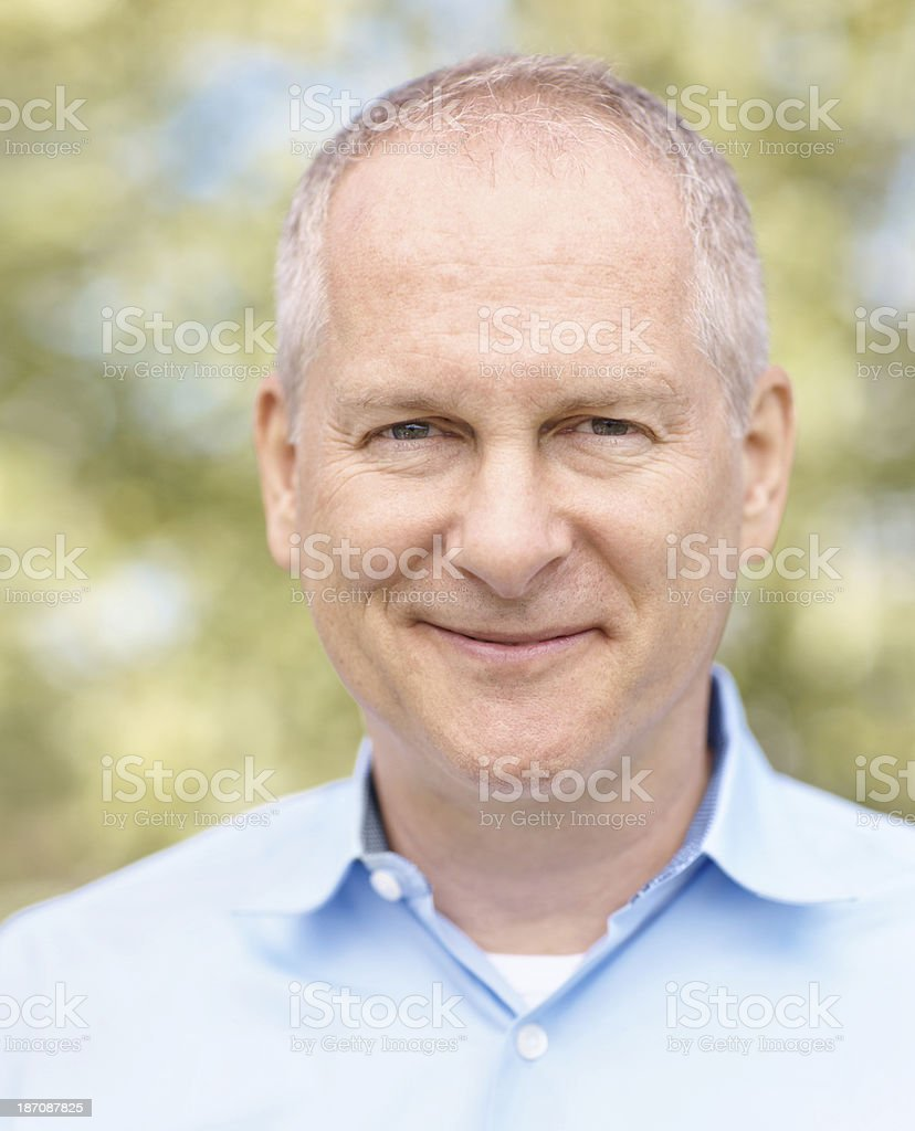 He's calm and content in his senior years royalty-free stock photo