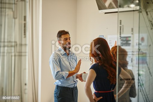 istock He's captured their attention with his ideas 604815532