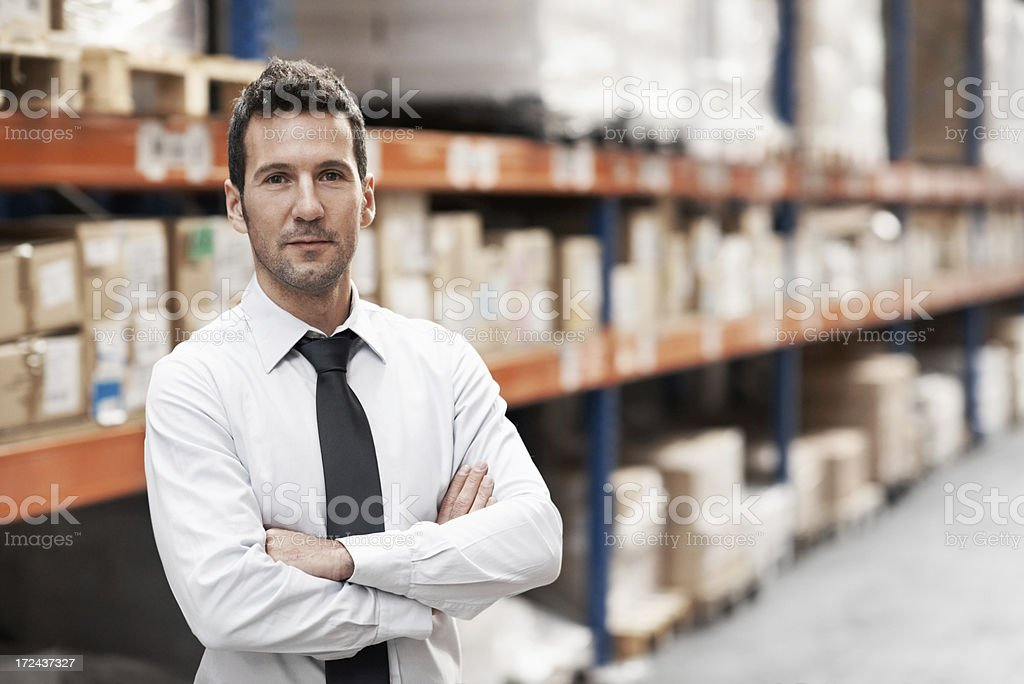He's competent at his job royalty-free stock photo