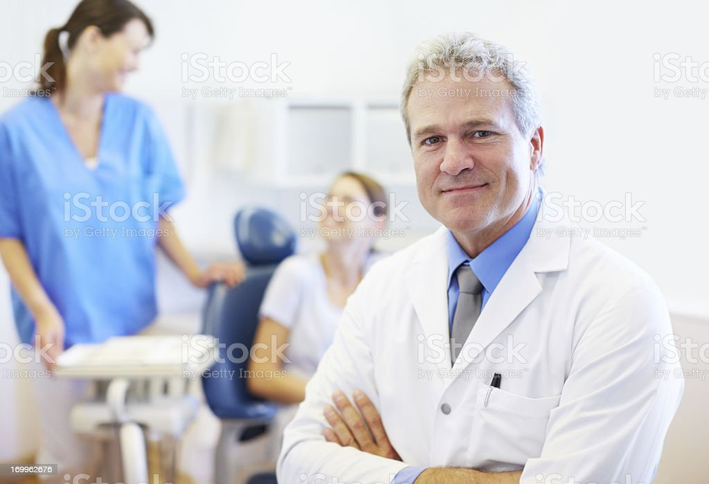 He's confident in his abilities stock photo