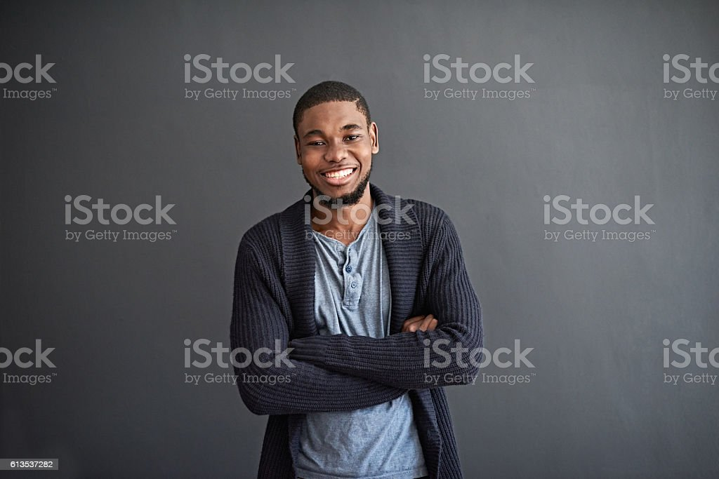 He's doesn't take things too seriously stock photo