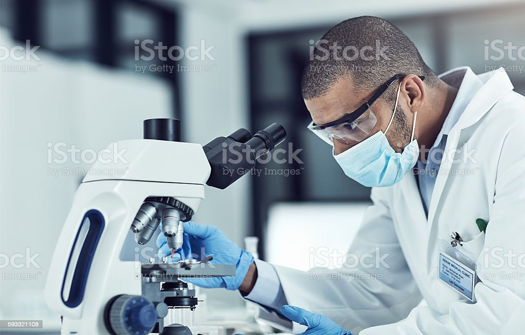 He's eager to unlock medical mysteries stock photo