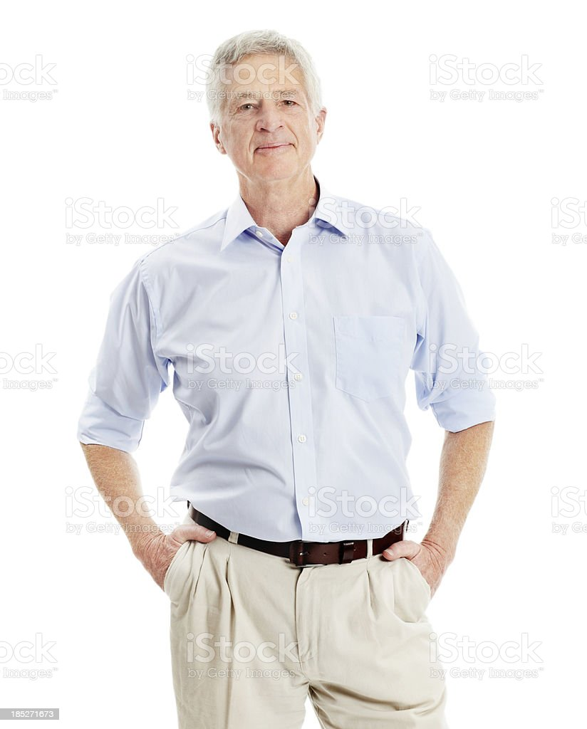 He's filled with a quiet confidence royalty-free stock photo