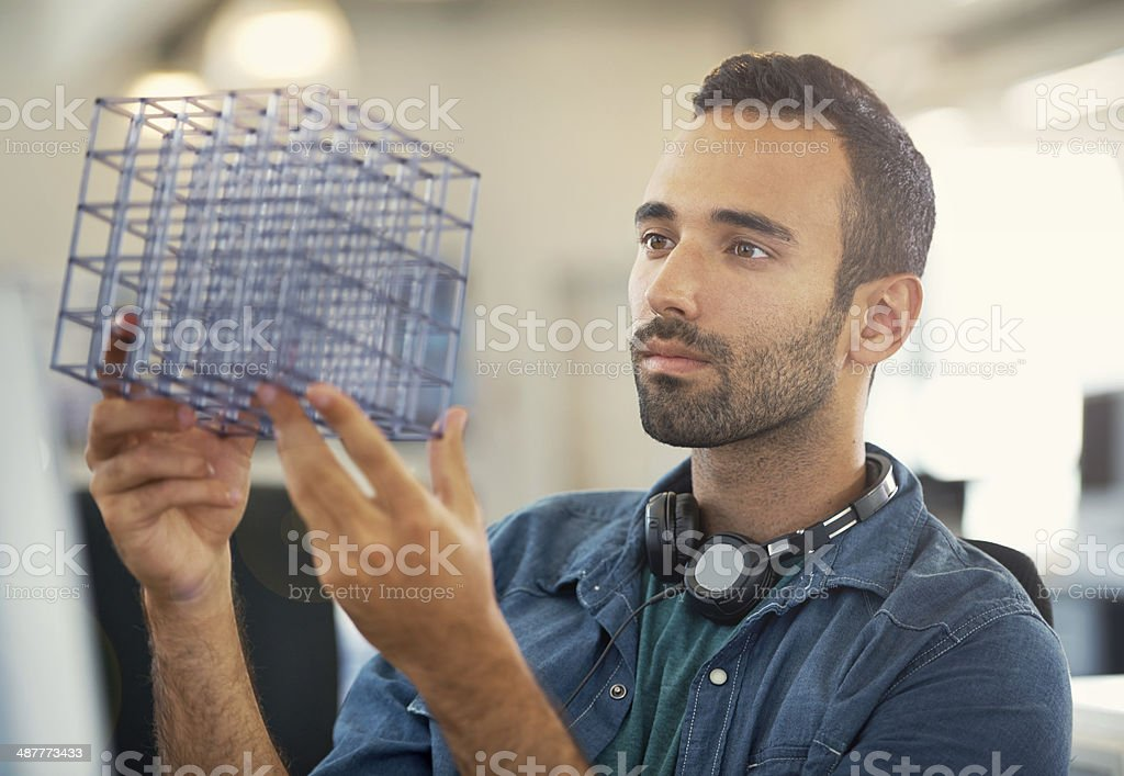 He's finding inspiration royalty-free stock photo