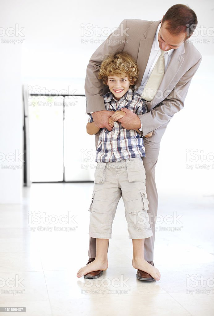 He's getting bigger everyday royalty-free stock photo
