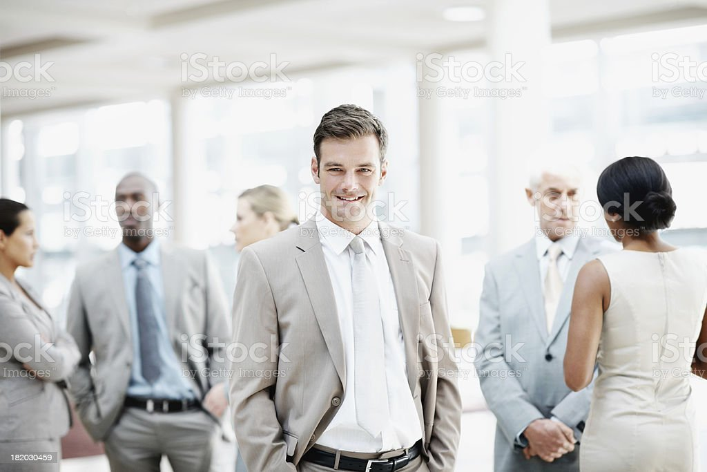 He's going places in the corporate world royalty-free stock photo