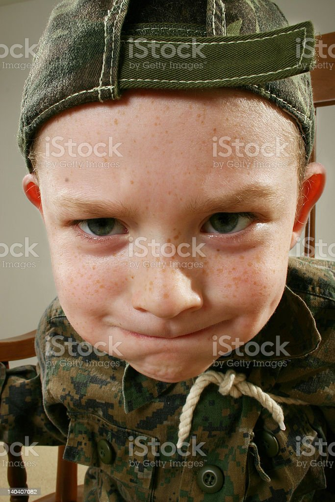 He's gonna blow! royalty-free stock photo