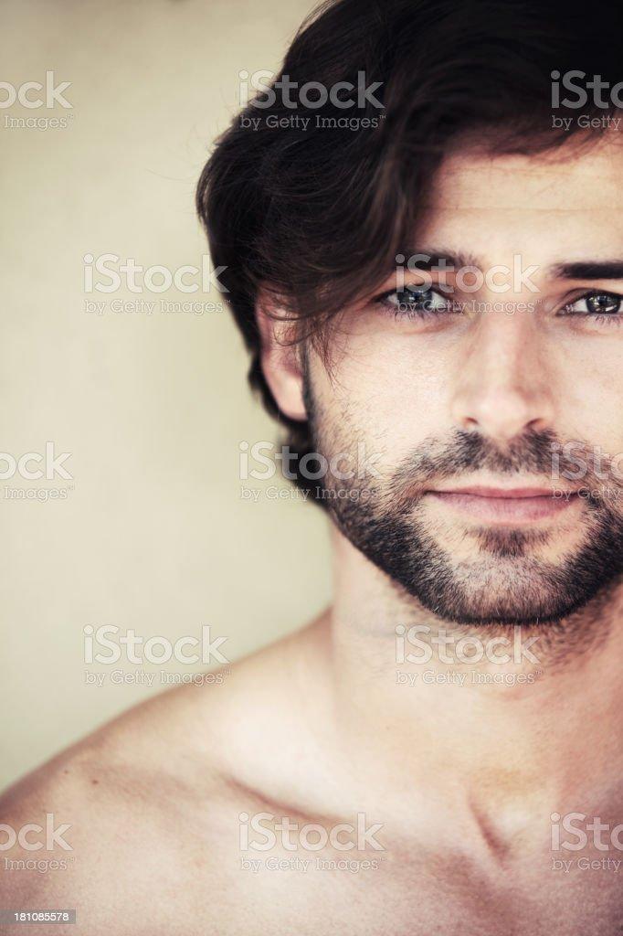He's got a boyish charm royalty-free stock photo