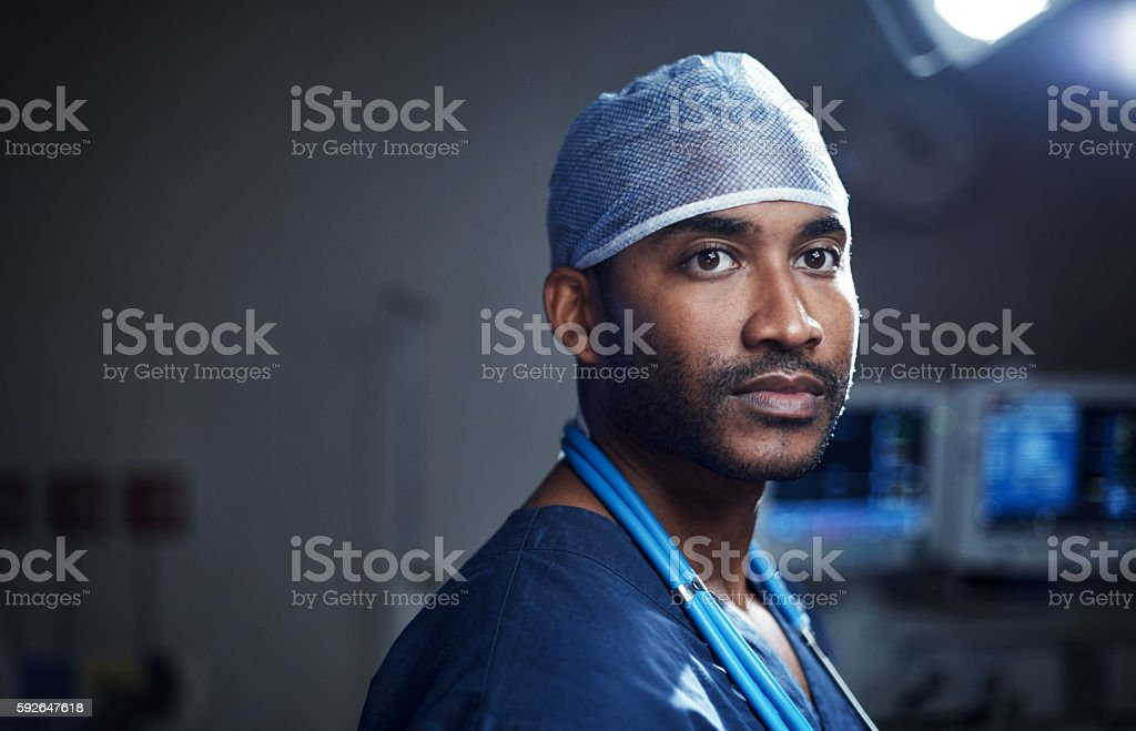 He's got a calling to cure stock photo