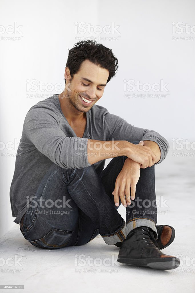 He's got a carefree attitude royalty-free stock photo