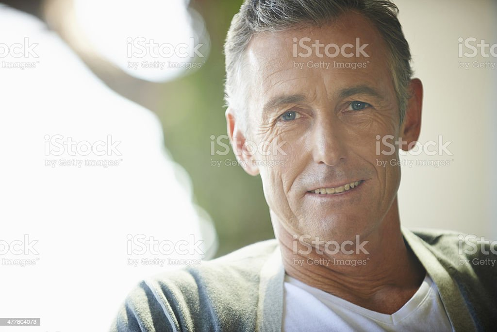 He's got a lifetime of experience behind him stock photo