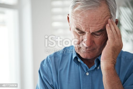 istock He's got a lot on his mind... 487726806