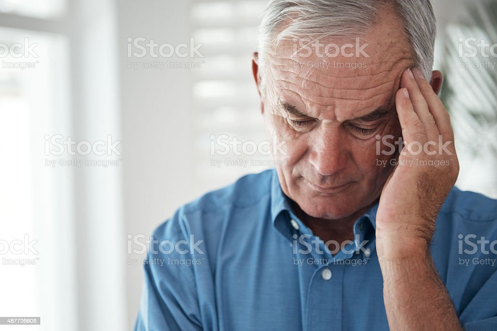 He's got a lot on his mind... stock photo