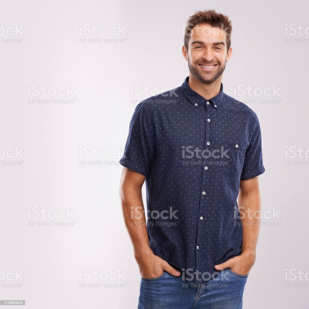 He's got a smile that could melt any girl's heart stock photo