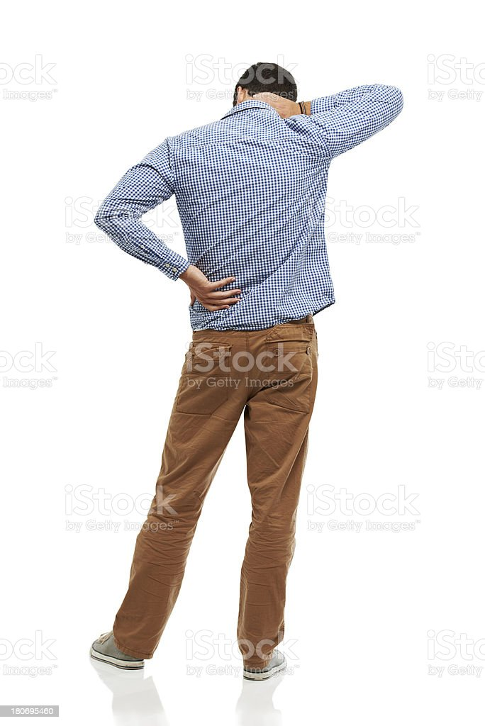 He's got a sore back from sitting all day royalty-free stock photo